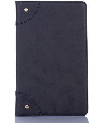 Samsung Galaxy Tab A 10.1 (2019) Retro Portemonnee Hoesje Zwart Hoesjes