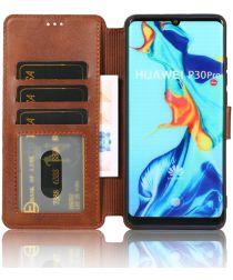 Huawei P30 Pro Portemonnee Hoesje Bruin