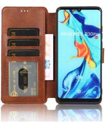 Huawei P30 Pro Portemonnee Hoesje Bruin Hoesjes