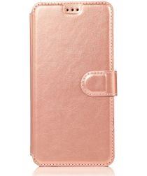 Samsung Galaxy A70 Portemonnee Hoesje Roze Goud