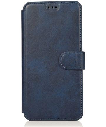 Samsung Galaxy A40 Stijlvol Portemonnee Hoesje Blauw