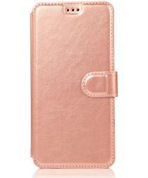 Samsung Galaxy A40 Stijlvol Portemonnee Hoesje Roze Goud