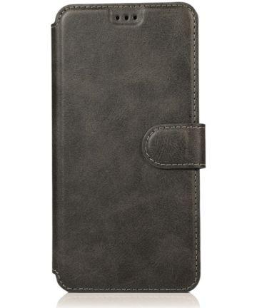 Samsung Galaxy A40 Stijlvol Portemonnee Hoesje Zwart