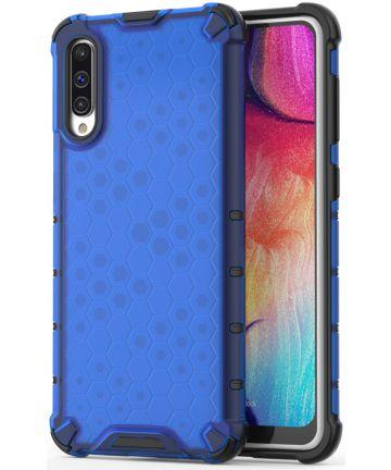 Samsung Galaxy A50 Siliconen Hoesje Shock Proof Hybride Blauw Hoesjes