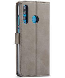 Huawei P Smart Plus (2019) Portemonnee Bookcase Hoesje Grijs