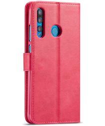 Huawei P Smart Plus (2019) Portemonnee Bookcase Hoesje Rood