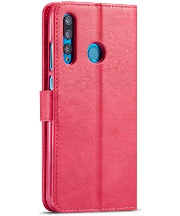 Huawei P Smart Plus (2019) Portemonnee Bookcase Hoesje Rood Hoesjes