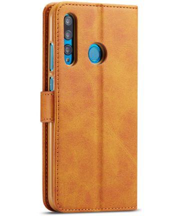 Huawei P Smart Plus (2019) Portemonnee Bookcase Hoesje Bruin Hoesjes