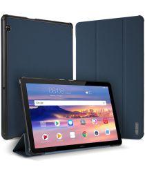 Dux Ducis Domo Series Huawei MediaPad T5 Tri-fold Hoes Blauw
