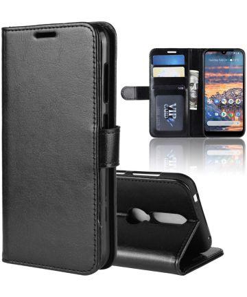 Nokia 4.2 Portemonnee Bookcase Hoesje Zwart Hoesjes