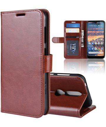 Nokia 4.2 Portemonnee Bookcase Hoesje Bruin Hoesjes