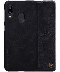 Nillkin Qin Series Samsung Galaxy A20E Flip Hoesje Zwart