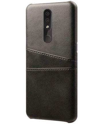 Nokia 4.2 Hoesje met Kaarthouder Zwart Hoesjes
