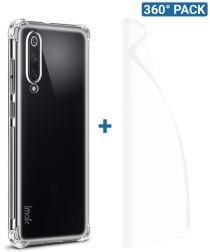 IMAK Xiaomi Mi 9 SE Hoesje TPU met Screenprotector Transparant