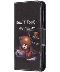 Samsung Galaxy A20E Portemonnee Hoesje met Don't Touch Print
