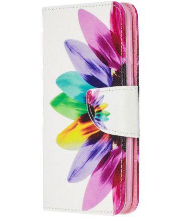 Samsung Galaxy A20E Portemonnee Hoesje met Bloem Print