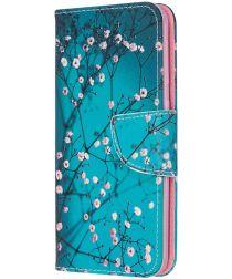 Samsung Galaxy A20E Portemonnee Hoesje met Wintersweet Print
