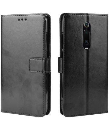 Xiaomi Mi 9T Luxe Portemonnee Hoesje Zwart Hoesjes