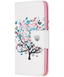 Samsung Galaxy A20E Portemonnee Hoesje met Tree Print