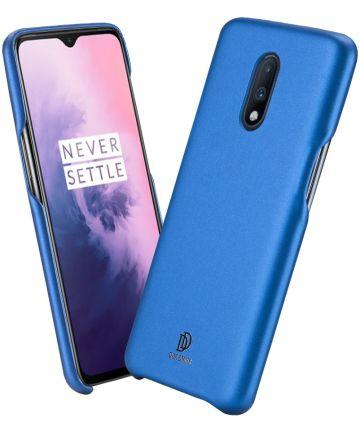 Dux Ducis Skin Lite Kunstleren Coating Hoesje OnePlus 7 Blauw Hoesjes