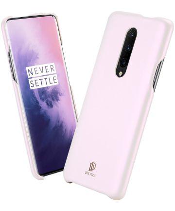 Dux Ducis Skin Lite Kunstleren Coating Hoesje OnePlus 7 Pro Roze