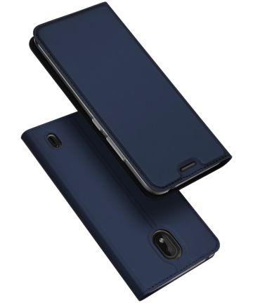 Dux Ducis Nokia 1 Plus Bookcase Hoesje Blauw Hoesjes