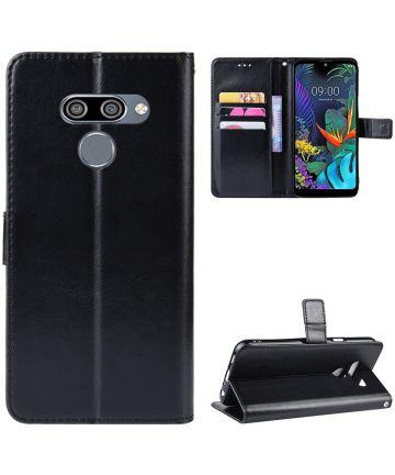 LG Q60 Bookcase Hoesje Met Pasjes Zwart Hoesjes