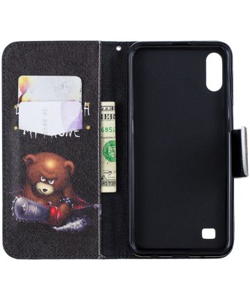 Samsung Galaxy A10 Portemonnee Hoesje met Print Don't Touch My Phone Hoesjes