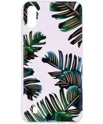 Samsung Galaxy A10 TPU Hoesje met Bladeren Print