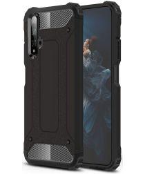 Honor 20 / Huawei Nova 5T Hybride Hoesje Zwart