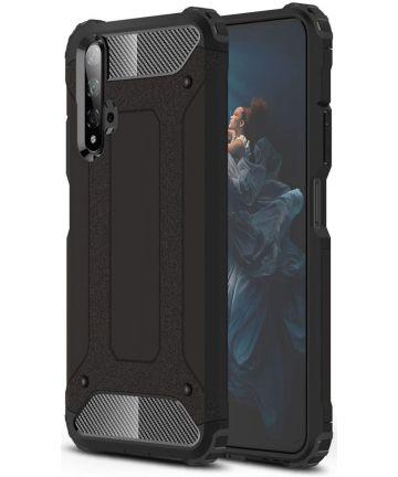 Honor 20 / Huawei Nova 5T Hybride Hoesje Zwart Hoesjes