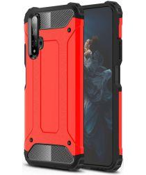 Honor 20 / Huawei Nova 5T Hybride Hoesje Rood