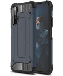 Honor 20 / Huawei Nova 5T Hybride Hoesje Blauw