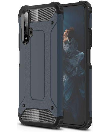 Honor 20 / Huawei Nova 5T Hybride Hoesje Blauw Hoesjes