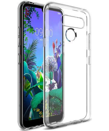 IMAK UX-5 Series LG Q60 Hoesje Flexibel en Dun TPU Transparant Hoesjes