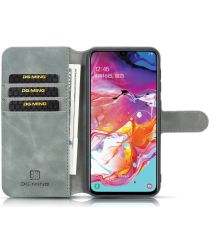 Samsung Galaxy A10 Portemonnee Hoesje Grijs