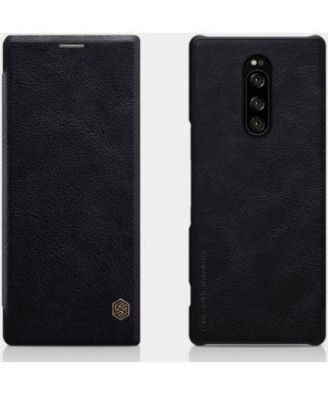 Nillkin Qin Series Flip Hoesje Sony Xperia 1 Zwart Hoesjes