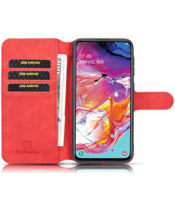 Samsung Galaxy A10 Portemonnee Hoesje Rood Hoesjes