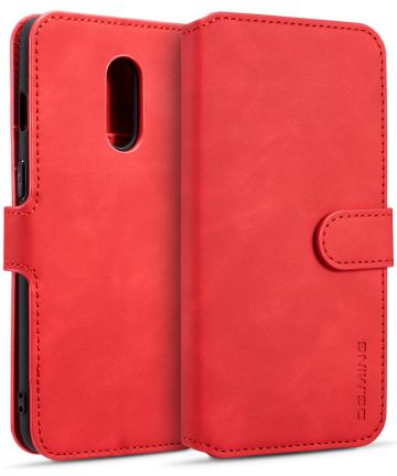 OnePlus 7 Portemonnee Hoesje Rood Hoesjes
