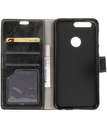 OPPO AX7 Luxe Portemonnee Hoesje Zwart Hoesjes