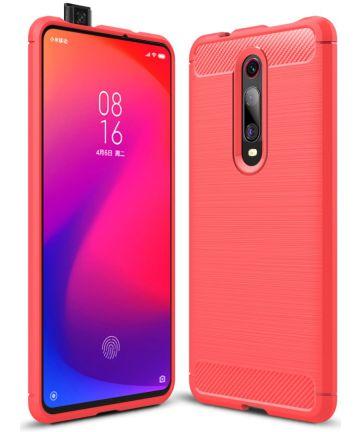 Xiaomi Mi 9T Geborsteld TPU Hoesje Rood Hoesjes