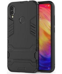 Redmi Note 7 Hoesje Hybride met Stand Zwart