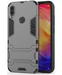 Redmi Note 7 Hoesje Hybride met Stand Grijs