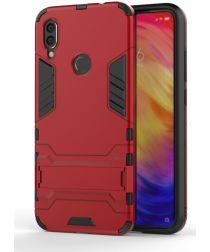 Redmi Note 7 Hoesje Hybride met Stand Rood
