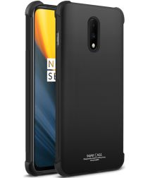 IMAK OnePlus 7 TPU Hoesje met Screen Protector Zwart