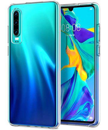 Huawei P30 Hoesje Dun TPU Transparant Hoesjes