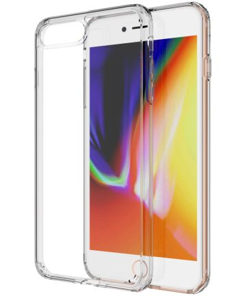 Apple iPhone 8 Plus Hybride Acryl Hoesje Transparant Hoesjes