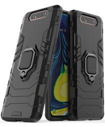 Samsung Galaxy A80 Hybride Hoesje met Kickstand Zwart