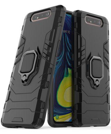 Samsung Galaxy A80 Hybride Hoesje met Kickstand Zwart Hoesjes