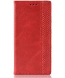 Samsung Galaxy A80 Vintage Portemonnee Hoesje Rood